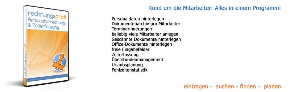 Rechnungsprofi Personalverwaltung Zeiterfassung