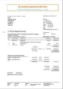 Rechnungssoftware mit Abschlagsrechnungen