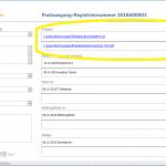 Anlagen in der Software im Posteingangsbuch oder Postausgangsbuch hinterlegen