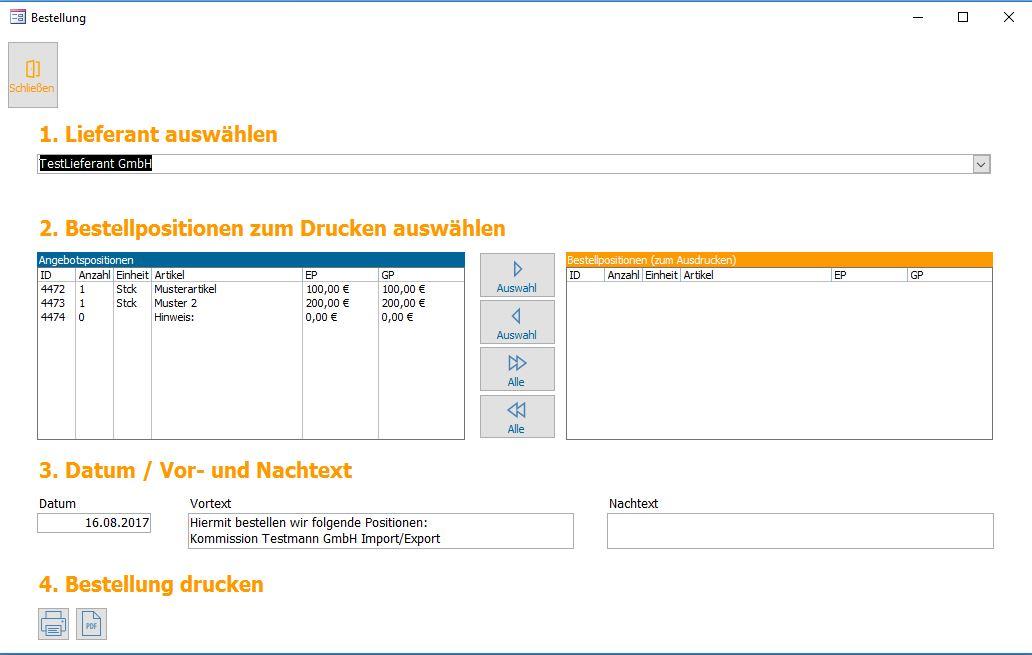 bestellung bestellformular lieferantenbetsellungen gleich aus angeboten - Personalbogen Muster