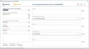 Postbuch, Software, Programm, Postausgangsbuch