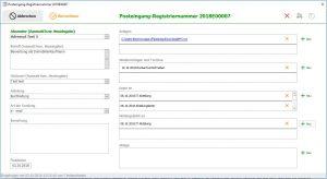 Postbuchprogramm, Posteingangsbuch, Posteingangsbuchsoftware