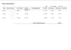 Offene Verbindlichkeiten, offene Rechnungen, Eingangsrechnungen, Lieferantenrechnungen